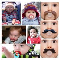 bebekler emzikler emzikler toptan satış-Bebek emzik komik emzik Sevimli Diş Bıyık Erkek Bebek Kız Bebek Emzik Ortodonti Kukla Sakal Nipeller Emzikler güvenli Ücretsiz kargo