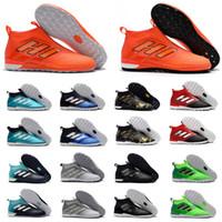 zapatos de fútbol superior al por mayor-2018 top top para hombre botines de fútbol as 17 Crampons de botas de fútbol zapatos de fútbol de interior ACE Tango 17 Purecontrol EN TF Turf alta calidad caliente