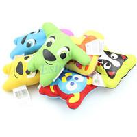 freie karikaturklänge großhandel-Wholesale-A96 Freies Hundespielzeug-Haustier-Welpen-Kauen-Quietscher-quietschender Plüsch-Ton-nette Karikatur-Art-lustiges Spielzeug des Verschiffen-5pcs / lot