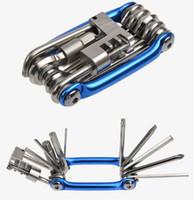 bisiklet tamir aletleri setleri toptan satış-11 1 Bisiklet Dağ Yol Bisikleti Aracı Set Bisiklet Bisiklet Çok Fonksiyonlu Onarım Araçları Kitleri Anahtarı Screwdrive Zincir Kesici