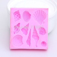 Wholesale Lovely Soap Mold - Hot sales Lovely shell silicone mold Fondant Cake Decorating Tools Silicone Soap Mold Silicone Cake Mold