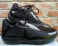 american shoes venda por atacado-Brand New Mens Casual Sapatos de Conforto Moda Tendências Sapatos Para homem Copo Americano de Couro de Patente com Malha Respirável Sapatos Tamanho 39-46