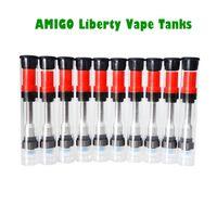 Wholesale Vapor Atomizers Clearomizers Wholesale - Amigo Liberty BUD Tank Cartridges Thick Oil Clearomizers Pyrex Glass CO2 Vape O pen CE3 e Cigs Vapor Vaporizers Atomizers