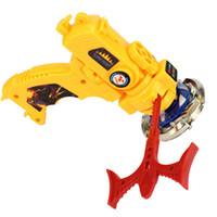 beyblades girando venda por atacado-Spinning top toys para crianças presentes de natal sabre de luz 1 pcs beyblade fusão de metal bb114 4d variares d: d lançador yoyo toy fang beyblade