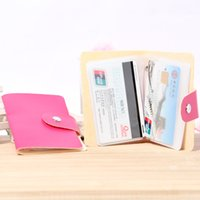 Wholesale New Arrivals Cards Pu Leather Card Holder Credit ID Business Card Package Card Bag Wallet Case QCV