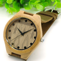 Wholesale Japanese Quartz Clock Movements - BOBO BIRD Bamboo Men Watches Fashion Casual Quartz Clock Japanese Miyota 2035 Movement Wristwatches Christmas Gift