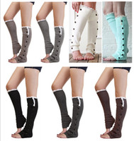 Wholesale lace floral knee socks resale online - 2017 Hot Sale Women New Crochet Lace Trim Flat Button Down Braid Knit Leg Warmers Boot Socks Knee High Fashion z658