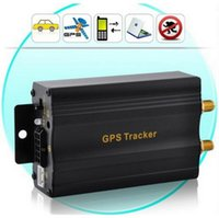 Wholesale Gps Tracking Device Sms - Car GPS tracker TK103A Vehicle Quadband cut off fuel SD card slot TK 103 GSM SMS GPRS Tracking Device top sale free shiping