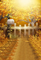 painted mailboxes - 200CM CM Mini baby child photographyAutumn grass leaves yellow mailbox background one hundred days baby photos LK