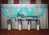 Whl Wholesale Price 3m * 6m Wedding Backdrop Curtain \ Stage Background para Wedding Event Decoration Include Pipe Stand