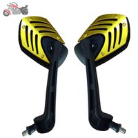 Wholesale Motor Moto Scooter - Motorcycle Accessories Motorcycle Mirrors ABS Plastic Shell Stem Cafe Racer Espelho Moto Retrovisor Moto Rearview Side Mirrors scooter motor