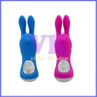 Wholesale Happy Bunny Sex - Pulsation 7 Modes Vibrating Happy Bunny Silicone Waterproof Tranquil Vibrators, Sex Toys for Female, Audlt Products