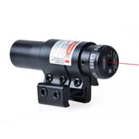 laser ponto vermelho para rifles venda por atacado-Durável Caça Montar Red Laser Dot Sight Scope Para Air Gun Rifle Pistola Preto Frete grátis