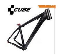Wholesale Cube Road Bike Frame - CUBE LTD Anode sandblasted black Aluminum alloy MTB Mountain bike frame bicycle frame 26*16 18 inch 1650g+Freeshipping