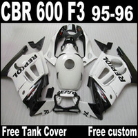 honda cbr f3 kaplama kiti toptan satış-Beyaz REPSOL ABS Honda CBR 600 F3 için onarım kiti vücut onarım arabaları 95 96 CBR600 F3 1995 1996 CBR 600