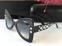 Wholesale mirror beads - Luxury Fashion Sunglass Women Brand Deisnger UV Protection Lens Popular Bowknot Frame With Bead Summer Style Full Frame Come Withe Case