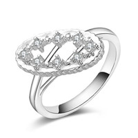 Wholesale new czech jewelry resale online - New Sterling Silver fashion jewelry imperial crown Czech drill ring hot sell girl gift
