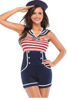 костюм в стиле полупрозрачный Navy Red White Women Pin Up Sailor Costume LC8847 cosplay sexy Halloween fantasias