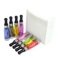 ingrosso batterie per ego ce4-Ego CE4 Clearomizer atomizzatore Cartomizer ce5 ce6 serbatoio 1.6 ml vaporizzatore per ego-t ego-k batteria e sigaretta starter kit 8 colori DHL