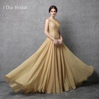 Wholesale Photo Shirts - A Line Sleeveless Lace Appliqued Chiffon Mother of the Bride Dresses Real Model Photo High Quality