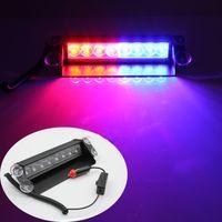 iluminação de tração 12v venda por atacado-8 luzes estroboscópicas de alta potência LED com ventosas de bombeiro piscando luz caminhão de emergência de 8 LEDs estroboscópicas carro de luz de aviso
