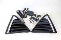 ford führte nebelscheinwerfer großhandel-Glanz-Art LED Auto DRL Nebel-treibende Lampe 12v führte Auto-Tagfahrlicht mit Abbiegelicht für Ford Focus 3 2012