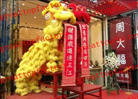 Cheap 2015 High quality Sell like hot cakes Woollen Lion Dance Mascot Costume Southern Style Bamboo Weaving Head Fur Celebration Party Outfit bnhj