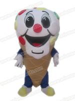 Wholesale Ice Mascot - AM3524 Ice Cream mascot costume Fur mascot suit Food mascot outfit