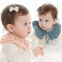 Atacado - Baby Lace Up Algodão Destacável Tie Choker Toddler Baby Girl Kid Fake False Collar