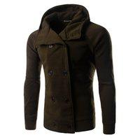 Wholesale Duffle Trench - Fall-2016 Fashion Winter Mens Jackets And Coats Duffle Coat Stylish British style wiht Hood Mens Pea Coat Wool Trench Coat