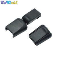 Wholesale Rope Stopper - 100pcs lot Zipper Pulls Cord Stopper End Lock Zip Clips Rope Buckle Paracord Black C0041-B1