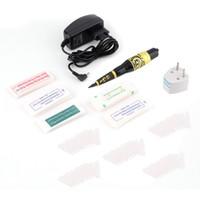 Wholesale Eyebrow Tattoo Pen Kit - Permanent Makeup Eyebrow Tattoo Pen Machine Make Up Kit with 50 Needles 50 Tips EU or US Plugs U-Pick Free Shipping