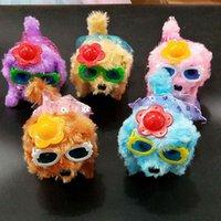 elektrikli köpek oyuncakları toptan satış-Yeni peluş oyuncak elektrikli köpek arayacak parlak ileri sarma köpek elektrikli çocuk oyuncakları durak toptan sıcak satış
