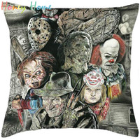 Wholesale Yarn Dolls - America Horror Story Polwester Pillow Case Cover Chucky Dolls Daniel Ayala Murderers Pillowcase Five Nights at Freddy's