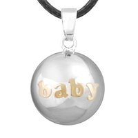 Wholesale Silver Ball Necklace Harmony Bell - Harmony bola ® Mexican bola ball bell silver plated pendant necklace Charm jewelry set for women in stock
