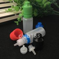 botellas de manipulación de 15 ml al por mayor-Envío rápido Botellas al por mayor 15 ml vacío a prueba de niños botella de gota de e-líquido 15 ML manipulador a prueba de niños botella de aceite electrónico