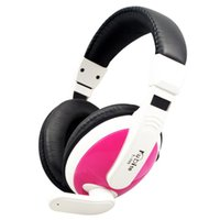 Wholesale Computer Internet Wires - Pink White New Arrival Cojines Auriculares Earphone Case [wholesale] Inventory Computer Gaming Headset Lovers Internet Voice Price.