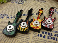 Wholesale Violin Shape - Retail 1pc violin Shape Metal tobacco pipes Smoking Pipe With retail package Novelty items Gift for men