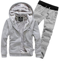 Wholesale Cotton Black Tracksuits For Men - New Arrival Men's Sports Clothing Sets Sweat Suits Tracksuit for Man Casual Spring Autumn Thicking Hoody Fur Lining Fleece Hoodies Pant