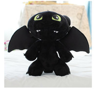 Wholesale Dragon Toothless Plush - Children Plush Toys How to Train Your Dragon Kids Stuffed Toys Toothless Cartoon Plush Dools For Child Height 20CM 30CM 10Pcs Lot K329