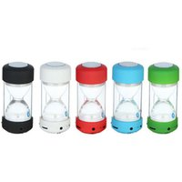 Wholesale glasses mini audio player resale online - Hourglass LC A22 Bluetooth Speaker Colorful Light Sand Glass Mini Portable Speakers For Samsung iPhone Smart Phone DHL Free MIS111
