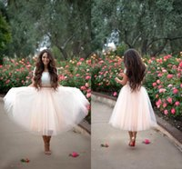 Wholesale Tea Length Ball Skirts - 2015 Blush Pink Tulle Skirts Custom Ball Gown Women Skirts Tea Length Many Layers Party Dresses Cheap Skirts With Elastic Waist Plus Size