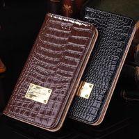 Wholesale Shockproof Flip Phone - 2017 Wallet Leather Phone Case Flip Shockproof Cellphone Full Cover for IPhone X 8 7 6 6s Plus with Stylish Design + Logo