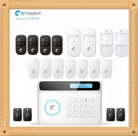 Wholesale Diy Gsm Pstn Alarm - eTIGER S4 Wireless GSM + PSTN Alarm System DIY Set 433Mhz Pet PIR Motion Detector