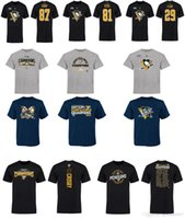 Wholesale Penguin Shirts - 2017 NHL Pittsburgh Penguins 87# Sidney Crosby Eastern Conference Champions T-Shirt for man women kid NHL jersey