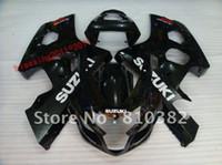 Wholesale Gsxr Suzuki Plastic Kits - HIGH QUALITY ABS PLASTIC fairing kit for SUZUKI GSXR 600 750 04-05 BLACK GSXR 2004 2005 GSXR600   750 04 05