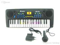Wholesale Toy Electric Organ - Free Shipping 37 key Piano Keyboard Children Toys Electronic Organ Demo Music Educational Electric Keyboard Wholesale