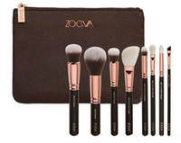 Wholesale Free Beauty Bag - ZOV 8Pcs Makeup Brushes kits Professional blending Eyeline Eyeshadow Brush Set Foundation Powder Beauty Cosmetic Tools + bag free shipping