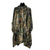 Wholesale Hunting Poncho Rain - Wholesale-Tactical Airsoft Sniper Hunting Rainwear Realtree PVC Rain Poncho Camping Hiking Raincoat