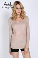 Wholesale Cheapest Sweater Dresses - Cheapest Women Sexy Sweater Dress Medium Long Slim O-Neck Basic Sweater New Style Knitted Sweater Free Size 18